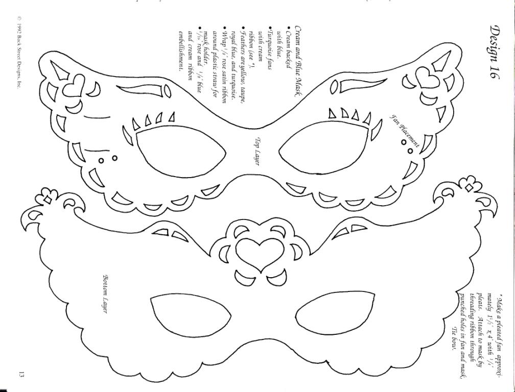 Новогодние маски трафарет